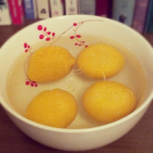 Vegan egg yolks.  That's right, vegan egg yolks!