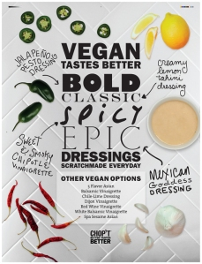 Check out all the vegan dressing options at Chop't!